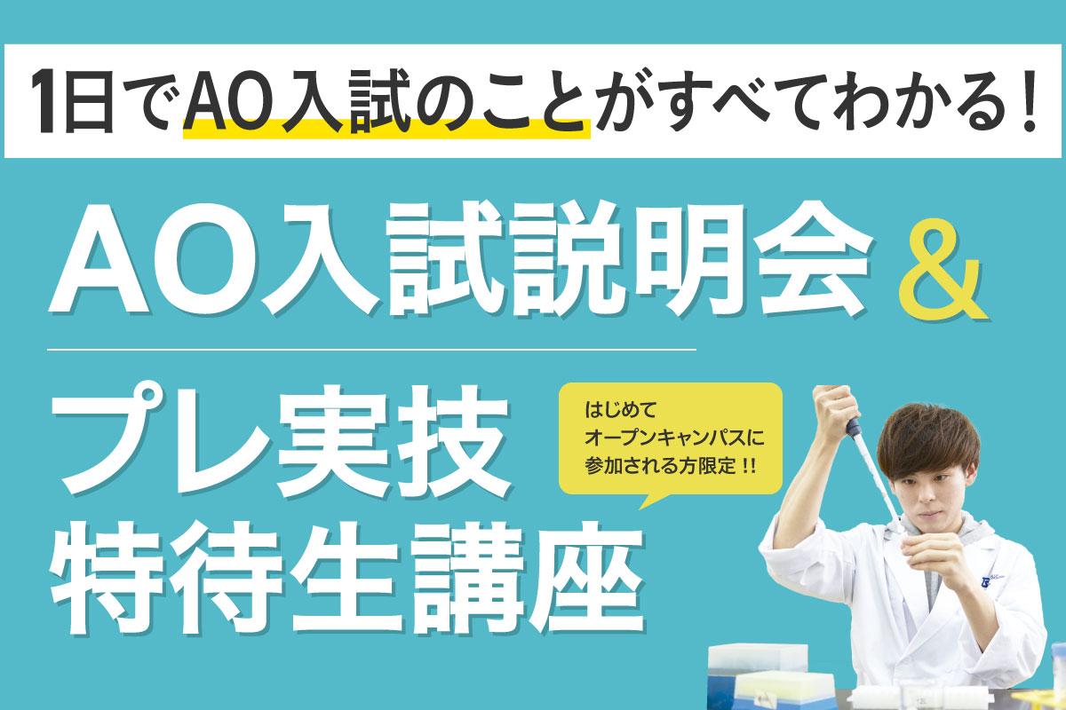 AO入試&実技特待